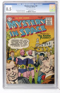 Golden Age (1938-1955):Science Fiction, Mystery in Space #28 (DC, 1955) CGC VF+ 8.5 Cream to off-whitepages....