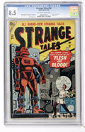Golden Age (1938-1955):Horror, Strange Tales #34 (Marvel, 1955) CGC VF+ 8.5 Off-white to whitepages....