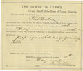 Miscellaneous:Ephemera, Arrest Warrant for Phil Baker El Paso, Texas 1895 - ...