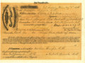 Military & Patriotic:Indian Wars, Dakota Soldier Transport Voucher 1876 - ...