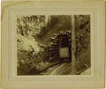 Western Expansion:Goldrush, Cabinet Card Photograph Mining Ore Cart 1890s - ...