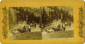 Western Expansion:Cowboy, Stereoview Stagecoach of Summit of Beaver Hill ca 1890s - ...