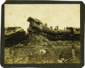 Photography:Cabinet Photos, Large Format Photograph of Head-On Train Crash ca 1890s -...