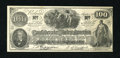 Confederate Notes:1862 Issues, Facsimile T41 $100 1862 Ad Note circa 1900.. ...