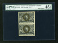 Fractional Currency:Second Issue, Fr. 1233 5c Second Issue Vertical Pair PMG Choice Extremely Fine 45 EPQ. ...