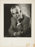 Movie/TV Memorabilia:Photos, Boris Karloff Photo Portrait by Walter Bud. ...