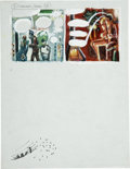 Original Comic Art:Miscellaneous, Harvey Kurtzman - Little Annie Fanny Color Preliminary Original Art(undated). ...
