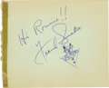 Movie/TV Memorabilia:Autographs and Signed Items, Frank Sinatra Autograph with Doodle. ...