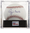 Autographs:Baseballs, Ozzie Smith Single Signed Baseball, PSA Gem Mint 10. ...