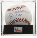 "Autographs:Baseballs, Billy Williams ""H.O.F. 87"" Single Signed Baseball PSA Mint 9...."