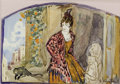 Fine Art - Work on Paper, PETR SAVVICH UTKIN (Russian, 1877-1934). Lady with Monkey. Watercolor, ink, and graphite on paper. 5 x 7-1/4 inches (12....