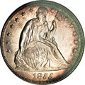 Seated Dollars, 1855 $1 MS62 NGC. CAC....