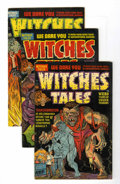 Golden Age (1938-1955):Horror, Witches Tales #14-16 File Copy Group (Harvey, 1952) Condition:Average VG.... (Total: 4 Comic Books)