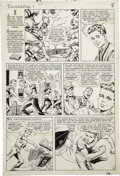 Original Comic Art:Panel Pages, Bill Everett Daredevil #1 page 6 Original Art (Marvel,1964)....