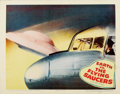 "Movie Posters:Science Fiction, Earth vs. the Flying Saucers (Columbia, 1956). Lobby Cards (3) (11""X 14"").... (Total: 3 Items)"