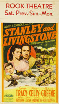 "Movie Posters:Adventure, Stanley and Livingstone (20th Century Fox, 1939). Midget WindowCard (8"" X 14"")...."