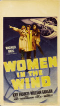 "Movie Posters:Drama, Women in the Wind (Warner Brothers, 1939). Midget Window Card (8"" X14"")...."