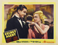"Movie Posters:Hitchcock, Secret Agent (Gaumont, 1936). Lobby Card (11"" X 14"")...."