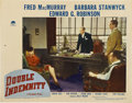 """Movie Posters:Film Noir, Double Indemnity (Paramount, 1944). Lobby Card (11"""" X 14"""")...."""
