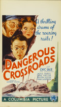 "Movie Posters:Drama, Dangerous Crossroads (Columbia, 1933). Midget Window Card (8"" X14"")...."