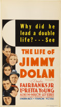 "Movie Posters:Romance, The Life of Jimmy Dolan (Warner Brothers, 1933). Midget Window Card(8"" X 14"")...."