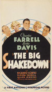 "The Big Shakedown (First National, 1934). Midget Window Card (8"" X 14"")"