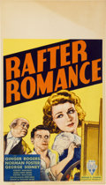 "Movie Posters:Comedy, Rafter Romance (RKO, 1933). Midget Window Card (8"" X 14"")...."