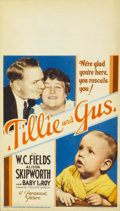 "Movie Posters:Comedy, Tillie and Gus (Paramount, 1933). Midget Window Card (8"" X 14"")...."