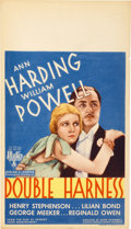 "Movie Posters:Short Subject, Double Harness (RKO, 1933). Midget Window Card (8"" X 14"")...."