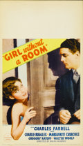 """Movie Posters:Comedy, Girl Without a Room (Paramount, 1933). Midget Window Card (8"""" X 14"""")...."""