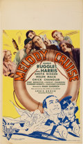 "Movie Posters:Romance, Melody Cruise (RKO, 1932). Midget Window Card (8"" X 14"")...."