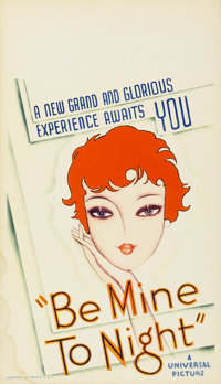 "Be Mine Tonight (Universal, 1932). Midget Window Card (8"" X 14"")"