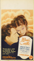 "Movie Posters:Drama, Man's Castle (Columbia, 1933). Midget Window Card (8"" X 14"")...."
