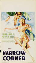 "Movie Posters:Drama, The Narrow Corner (Warner Brothers, 1933). Midget Window Card (8"" X 14"")...."