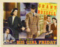 "Movie Posters:Comedy, His Girl Friday (Columbia, 1940). Lobby Card (11"" X 14"")...."
