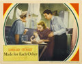 """Movie Posters:Comedy, Made for Each Other (United Artists, 1939). Lobby Card (11"""" X14"""")...."""