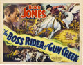 "Movie Posters:Western, The Boss Rider of Gun Creek (Universal, 1936). Title Lobby Card(11"" X 14"")...."