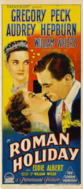 "Movie Posters:Romance, Roman Holiday (Paramount, 1953). Australian Daybill (13"" X 30"")...."