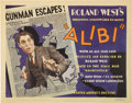 "Movie Posters:Crime, Alibi (United Artists, 1929). Title Card and Lobby Cards (3) (11"" X14"").... (Total: 4 Items)"