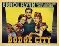 "Movie Posters:Western, Dodge City (Warner Brothers, 1938). Lobby Card (11"" X 14"")...."