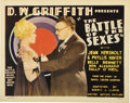 "Movie Posters:Comedy, Battle of the Sexes (United Artists, 1928). Title Card and LobbyCards (3) (11"" X 14"").... (Total: 4 Items)"