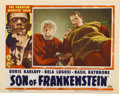 "Movie Posters:Horror, Son of Frankenstein (Realart, R-1953). Lobby Card (11"" X 14"")...."