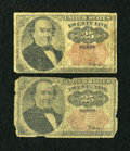 Fractional Currency:Fifth Issue, Fr. 1308 25c Fifth Issue Good. Fr. 1309 25c Fifth Issue Good.. ...(Total: 2 notes)