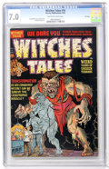 Golden Age (1938-1955):Horror, Witches Tales #14 File Copy (Harvey, 1952) CGC FN/VF 7.0 Tan tooff-white pages....