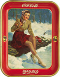Advertising:Trays, 1941 Skater Girl Coca-Cola Tray, ...