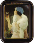 Advertising:Trays, 1925 Flapper Girl Coca-Cola Tray....