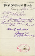 Miscellaneous:Ephemera, First National Bank Deming, New Mexico Territory 1885 - ...