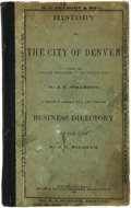 Miscellaneous:Ephemera, The City of Denver Business Directory for 1866 reproduced in1909....