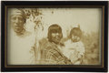 Photography:Cabinet Photos, Early Image of an American Indian Family,...