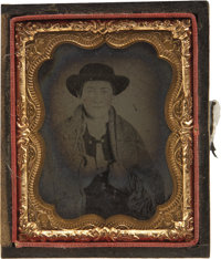 Ninth Plate Ambro photograph of Cowboy looking Dude ca 1860s-1870s